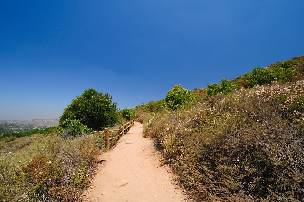 Hiking in southern California to Cowles Mountain