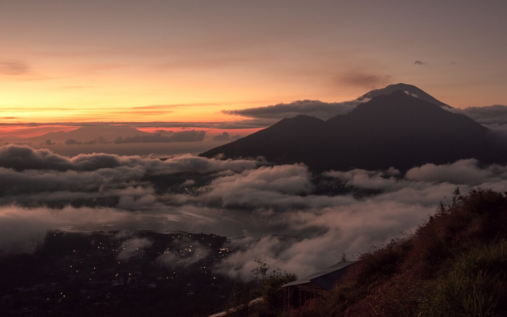 Sunrise from Mount Batur in Bali