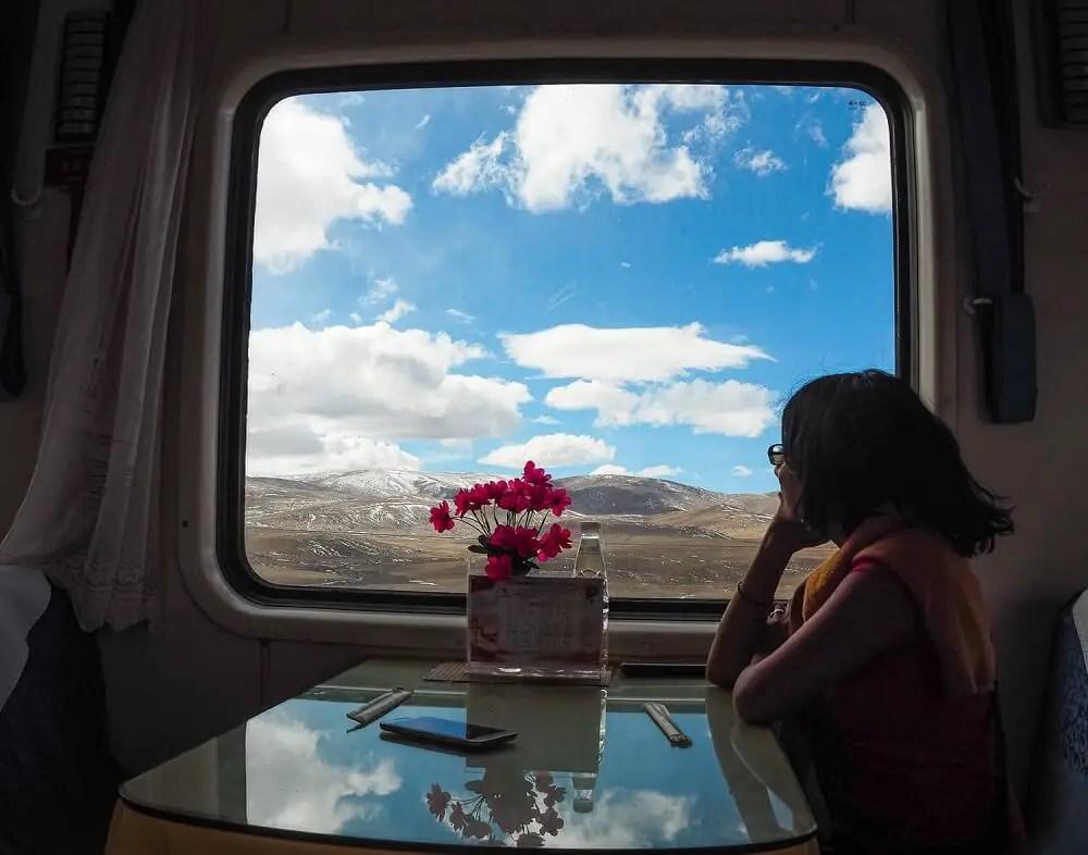 Qinghai Tibet railway journey view