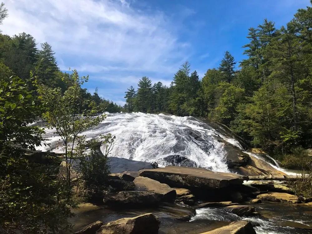 Brevard NC waterfalls - Bridal Veil Falls in DuPont