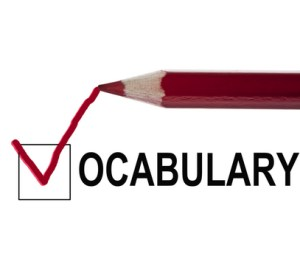 Vocabulary of daily use