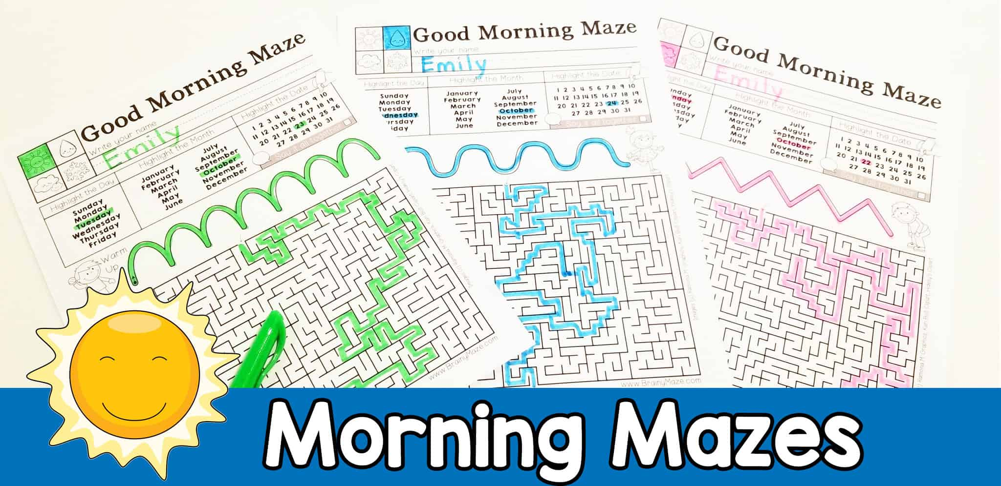 Morning Mazes For Daily Warm Up