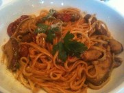 Linguine Mundo With Eggplants, Sun Dried Tomatoes and Mushrooms