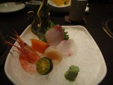 Sweet Shrimp, Yellowfin Tuna, Assorted Sashimi