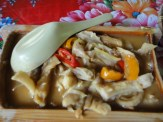 Pork Intestines Marinated With Sweet Red Peppers and Kumquats