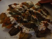 Eggplant Burani Seasoned With Spiced Garlic And Served With Afghani Yogurt and Bread