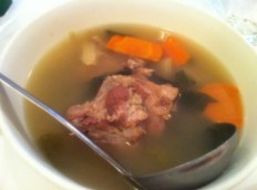 Pork Rib Soup With Red Dates, Carrots and Sun Dried Cloud Mushrooms