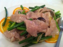 Pork Tenderloin Sauteed With Garlic Stems