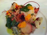Poached Lobster With Lemon Butter, Basil, Apple Cabbage and Peperoncino Oil