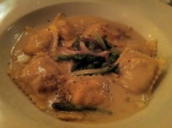 Lobster Ravioli, Beurre Blanc with Truffle Oil