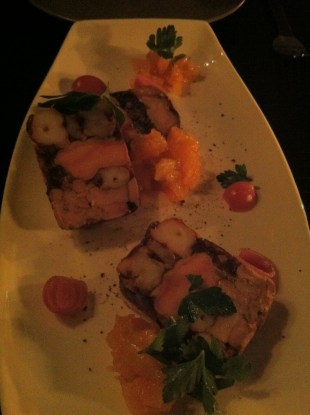 Foie gras and shrimp terrine