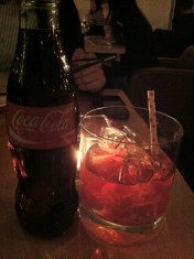 Pickled Cherry and Coke Cocktail