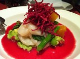 Scallops With Avocado, Orange, Beets