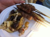 Lamb Skewers with Marinated Mushrooms, Onions and Artichoke Hearts