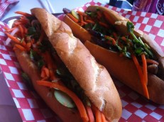 Duck Confit Banh Mi, Five Spice Pork Belly Banh Mi