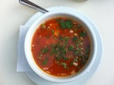 Tlalpeno Broth: Chicken Broth, Tomato, Chipotle, Chicken, Cheese
