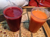 Beet, Carrot, Apple Juice + Carrot and Ginger Juice