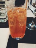 Le Serpent Cocktail (absinthe, campari, soda)