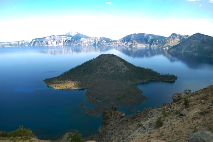View from the rim of Crater Lake