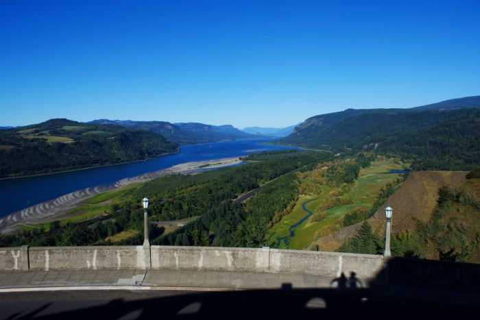 The Columbia River viewed from the Vista House, Corbett, Oregon