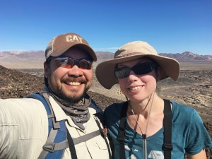 Selfie of Michael and Christina on top of Amboy Crater