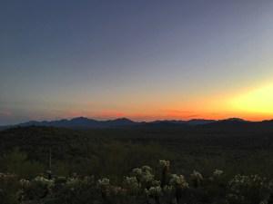 Sunset over the desert from the Desert View Trail