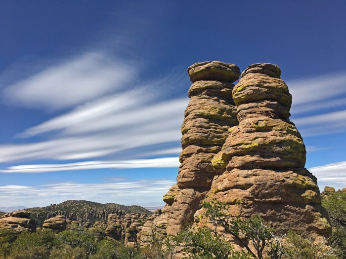 Pair of pinnacles at Chiricahua