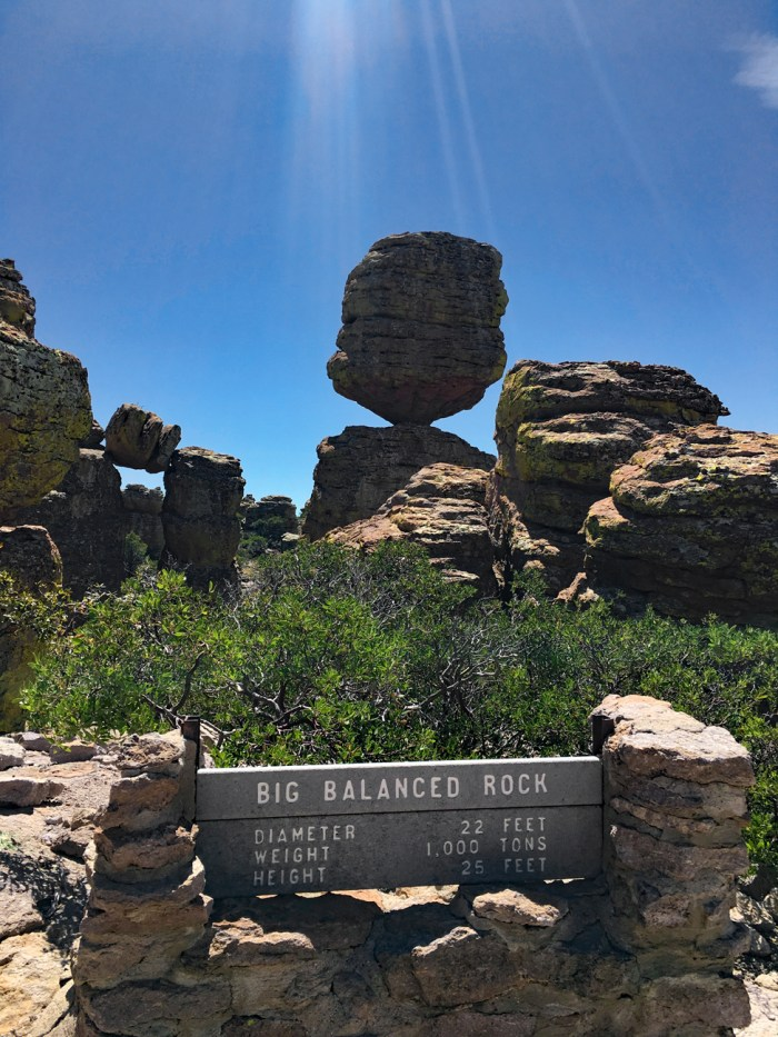 Big Balanced Rock in the Heart of Rocks at Chiricahua NM