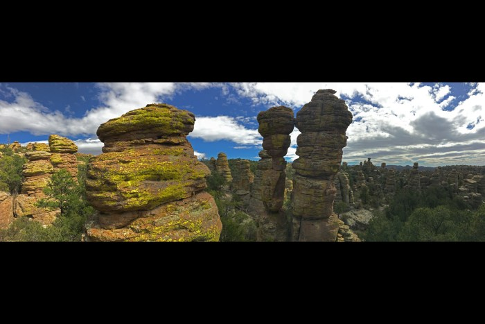 A pair of pinnacles that look like they are kissing in the Heart of Rocks