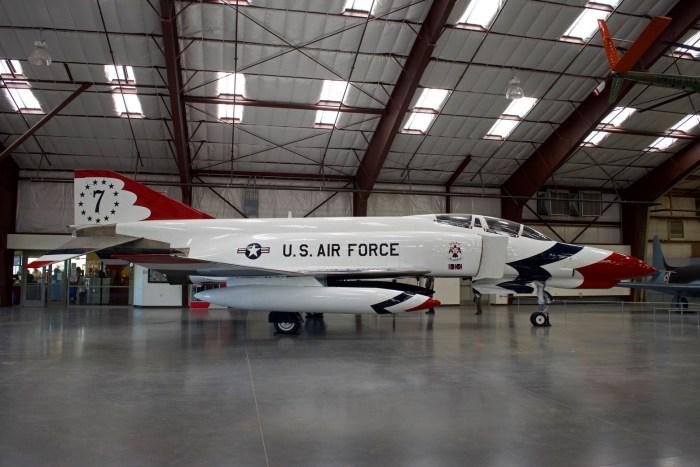 F4 Phantom II parked in the hangar