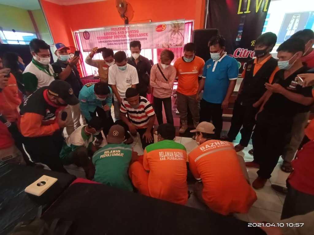 Driver dan Relawan Baznas Purbalingga Ikut Pelatihan Penanganan Korban Kecelakaan dan Bencana Alam