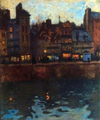Raoul Duffy pier-of-le-havre-in-the-evening-1901