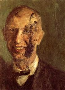 Richard Gerstl laughing-self-portrait-detail 1904