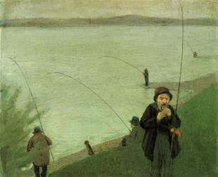 anglers-on-the-rhine 1907 Auguste Macke
