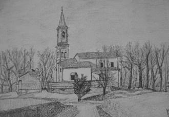 Chiesa di Fornio - grafite su carta