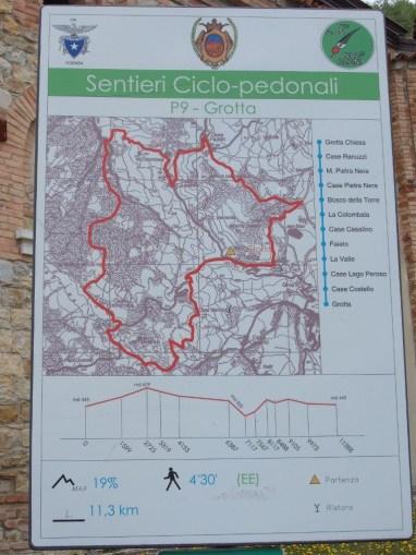 La mappa del sentiero P9