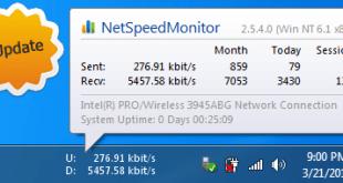تحميل برنامج Net Speed Monitor لقياس سرعة الانترنت للكمبيوتر