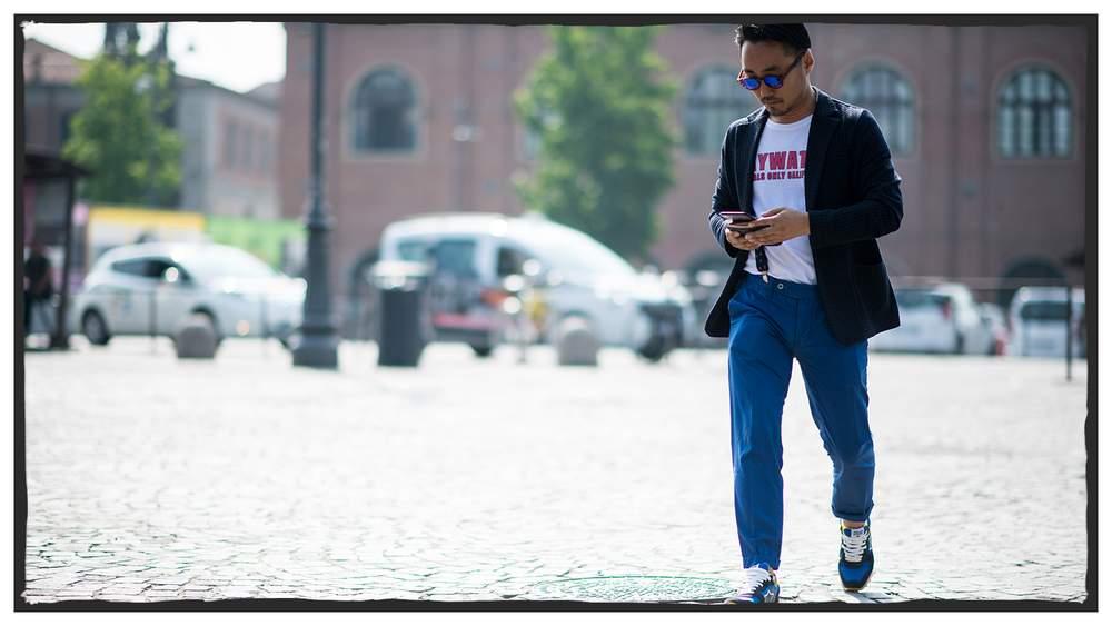 Пиджак в ярком образе