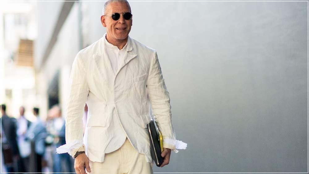 белый цвет в одежде мужчины