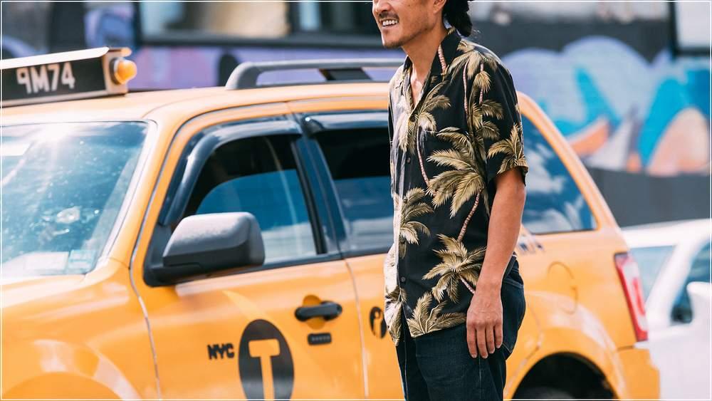 мужская гавайская рубашка