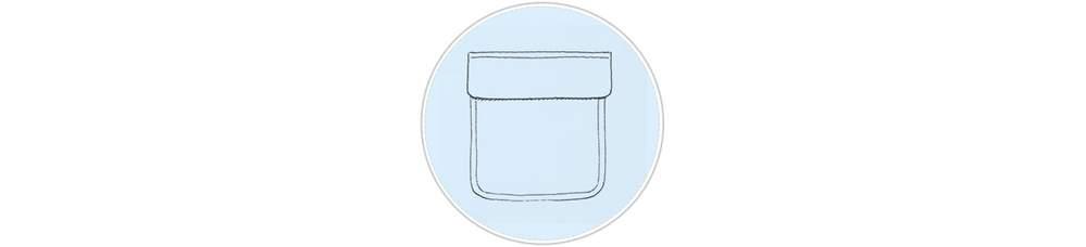 Оборочный карман