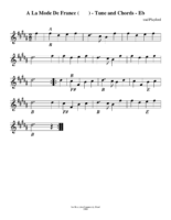 a_lamode_de_france_tune_and_chords_eb