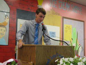 Huntir Wilson Speaking during OJT Banquet