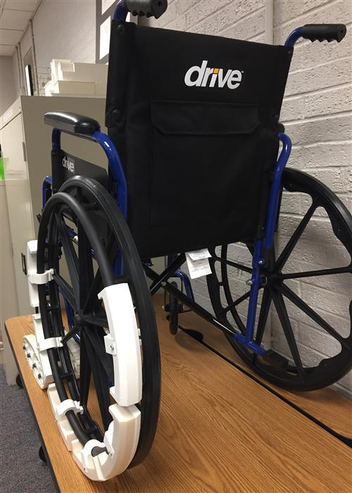 Wheelchair, back view