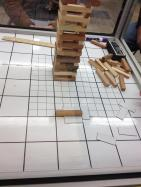 Jenga set on a Grid