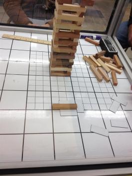 Jenga set on a Grid