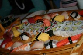 sushi arranged on a plate