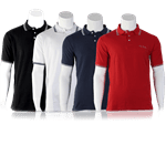 Shirts in many colors