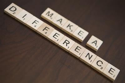 Make a Difference spelled with tiles