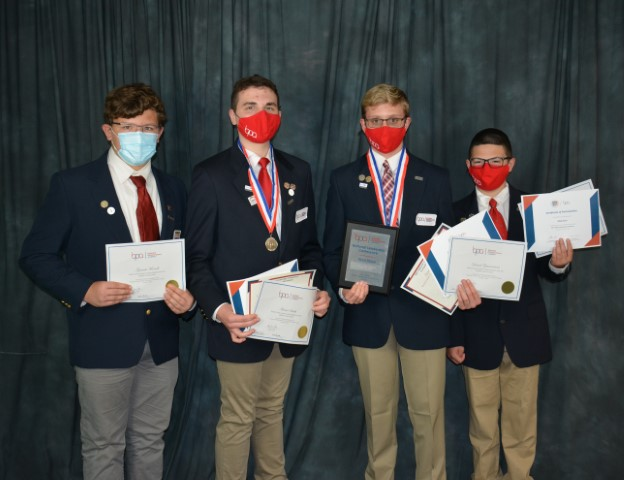 Students - Garrett Morrell, Hunter Smith, Daniel Zimmerman, Max Garn